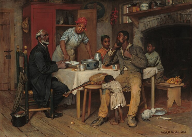 Richard Norris Brooke, A Pastoral Visit, 1881
