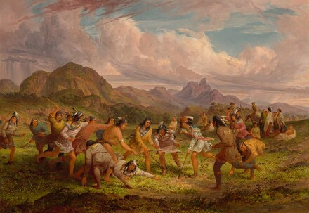 Ball Playing among the Sioux Indians