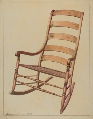 Ladder Back Rocking Chair