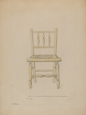 Small Rush Bottom Chair