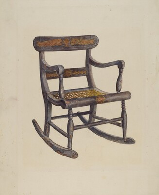 Decorated Child's Rocking Chair