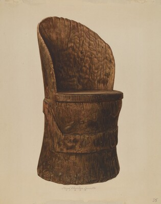Wooden Log Chair