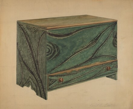 Painted Wooden Chest