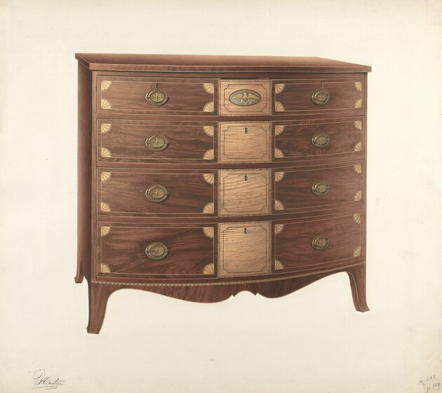 Although Carved Decoration Appears In Hepplewhite Design, Most Hepplewhite  Furniture Is Ornamented With Inlays Of Contrasting Woods Which Emphasize  The ...