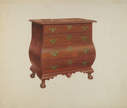Bombe Front Chest of Drawers