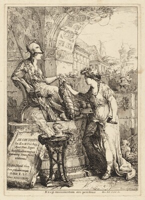 Exegi Monumentum (Art Inscribing Minerva's Shield)