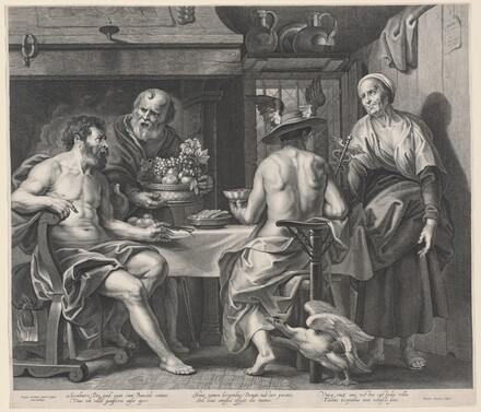 Jupiter and Mercury Entertained by Philemon and Baucis