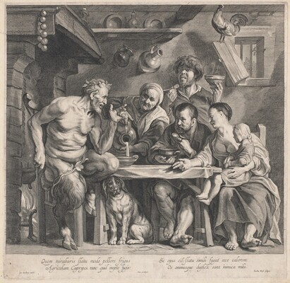 A Satyr Visiting a Peasant Family
