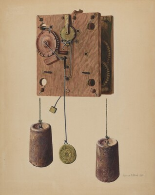 Mechanism of Eli Terry Clock