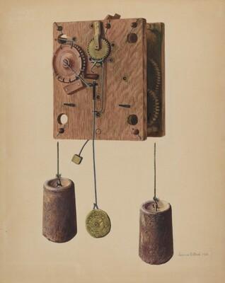 Mechanism of Eli Terry Clock