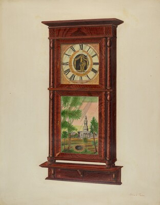 Wall Clock with Mantel