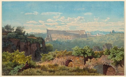 The Colosseum Seen from the Palatine Hill