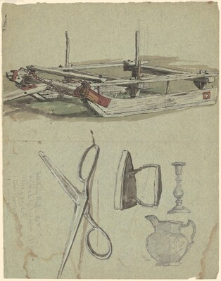 Studies of a Sled and Various Household Objects