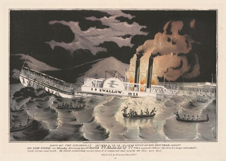 Loss of the Steamboat Swallow: While on Her Trip, from Albany to New-York, on Monday Evening April 7th 1845