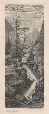 Waterfall, Rocky Mountains