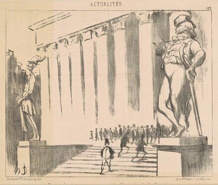 Projet de statutes pour orner ... la Bourse