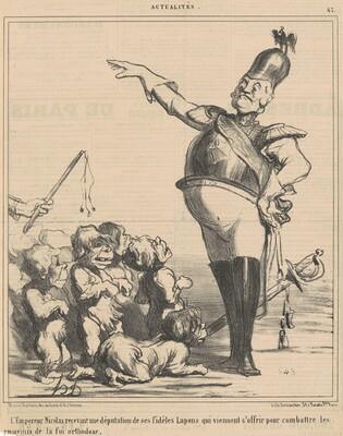 L'empereur Nicolas recevant une députation ...