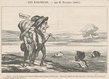Quien! ... Core des parisiens qui veniont s'baigner ...