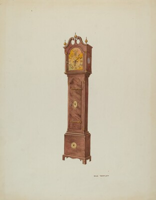 Grandfather Clock, Angular View