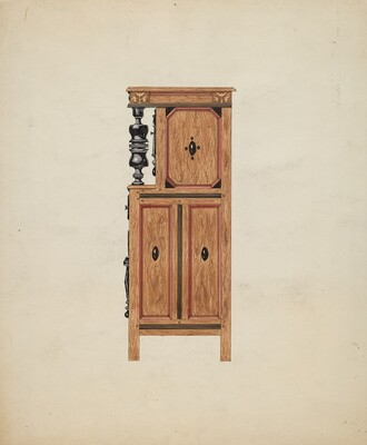Side View of Hartford Cupboard