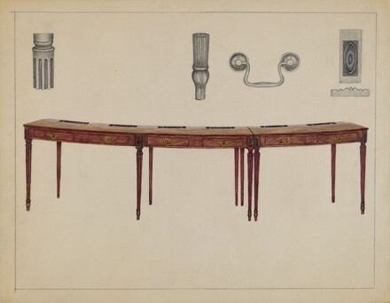 Desk (in two sections) Used by Members of Congress