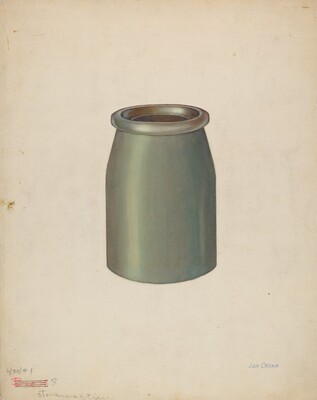 Stoneware Quart Jar
