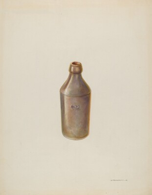 Earthenware Ale Bottle
