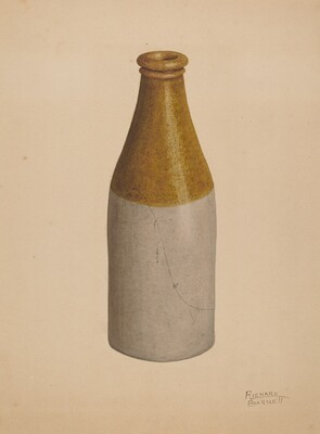 Stoneware Ink Bottle or Catsup Bottle