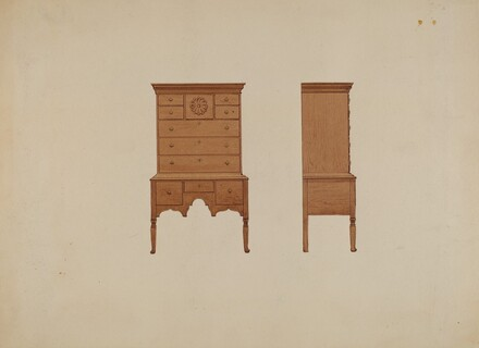 Highboy-front and Side Views
