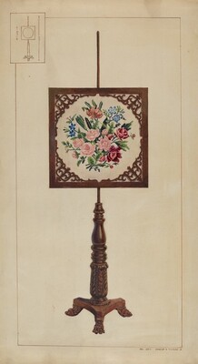 Petit Point Fire Screen