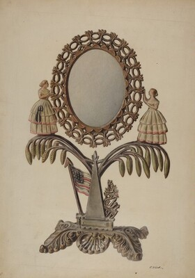 Dressing Mirror (cast iron)