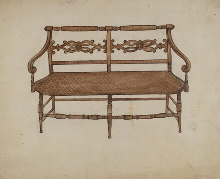 Porch Settee (one of a pair)