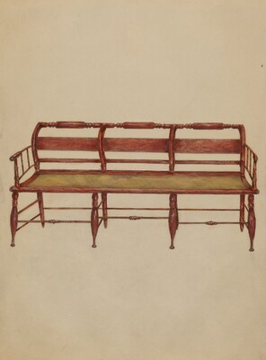 Settee or Hall Seat