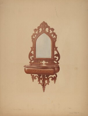 Mahogany Shaving Mirror