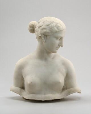 Unfinished bust of The Greek Slave