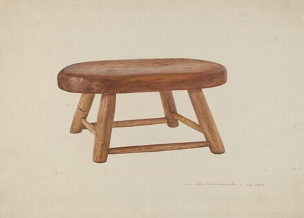Pennsylvania Dutch Bed Stool