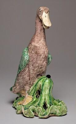 Duck on Lotus Leaf