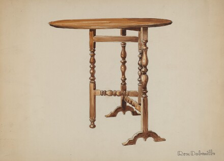 Three Legged Gate-leg Table