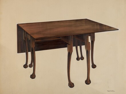 Gate-legged Table, Ball & Claw Feet