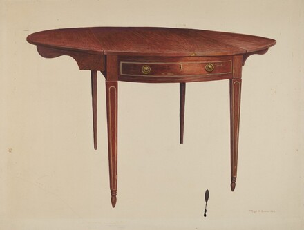 Hepplewhite Drop Leaf Table