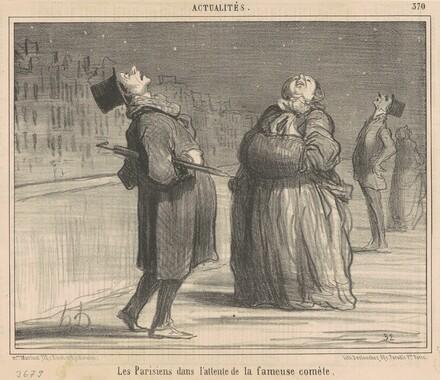 La parisiens dans l'attente de la ...comète