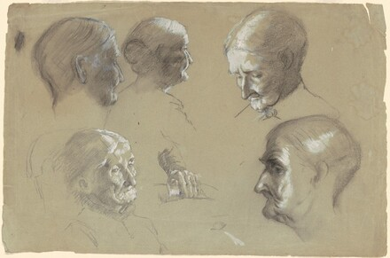 Studies of a Head of an Old Woman and a Hand