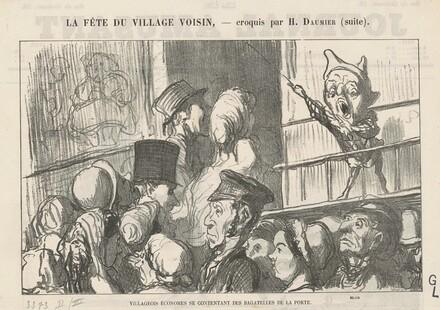 Villageois économes se contentant ... ;  A la campagne, pas de grèves de cochers ...