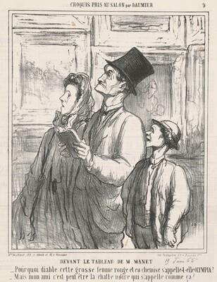 Devant le tableau de M. Manet