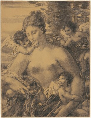 Nude With Four Cupids