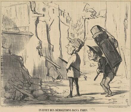 Un effet des démolitions dans Paris
