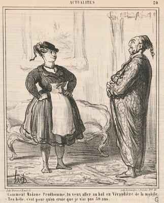Comment Madame Prudhomme ... En vivandière ...