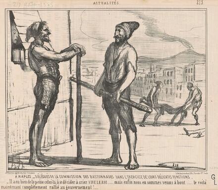 A Naples: Délégués de la commission ...