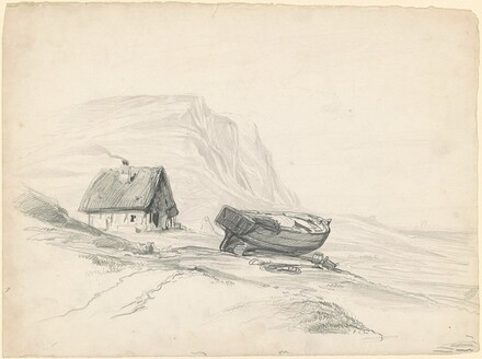 House and Boat at the Shore