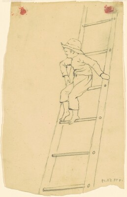 Boy on a Ladder